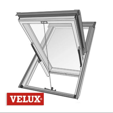 Velux Désenfumage Mécanique GGL S2076M - 114 x 118 - SK06 > Cage d'escalier